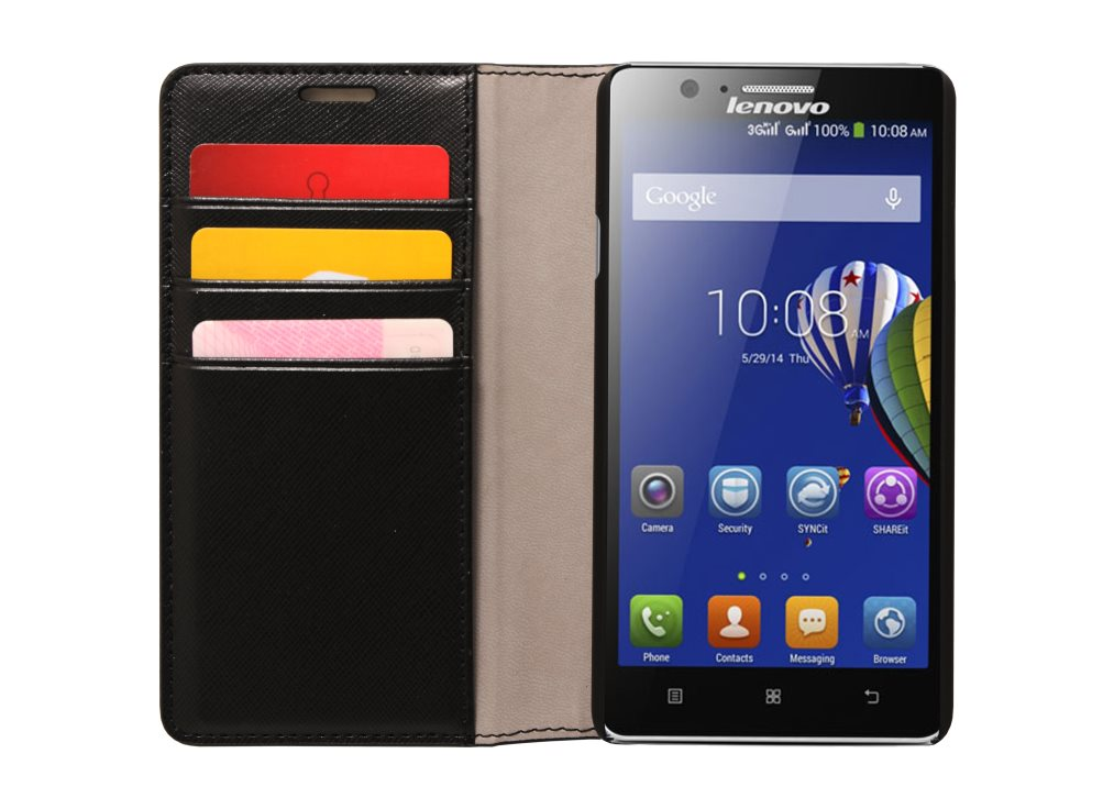 Pouzdro Lenovo Smartphone A536 Back Flip Cover - černé
