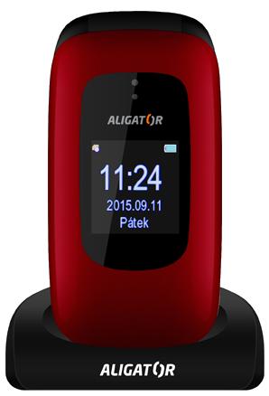 Aligator V600 Senior červeno-černý