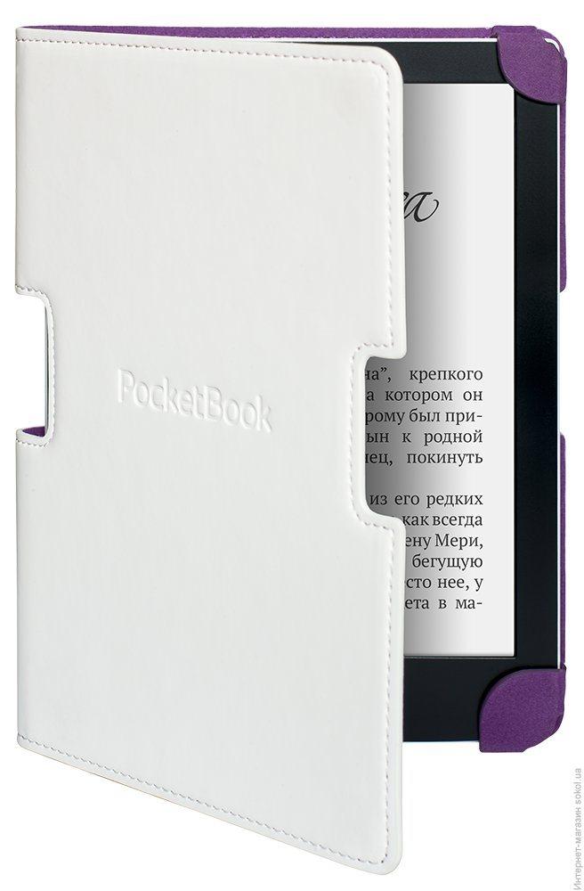 Pouzdro Pocketbook 630 bílo-fialové