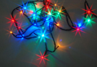 Venkovní LED řetězec, teplá bílá