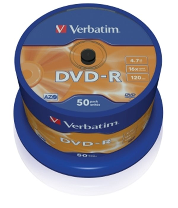Verbatim DVD-R 4.7GB 16x spindl 50ks