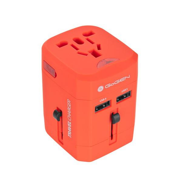 GoGEN pro 150 zemí, 2x USB, červený