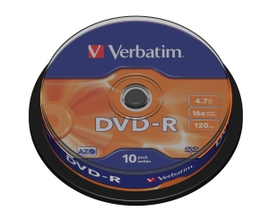 Verbatim DVD-R 4.7GB 16x spindl 10ks