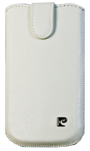 Pouzdro Pierre Cardin - SLIM velikost Samsung Galaxy SII, bílé