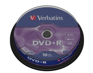 Verbatim DVD+R 4.7GB 16x spindl 10ks