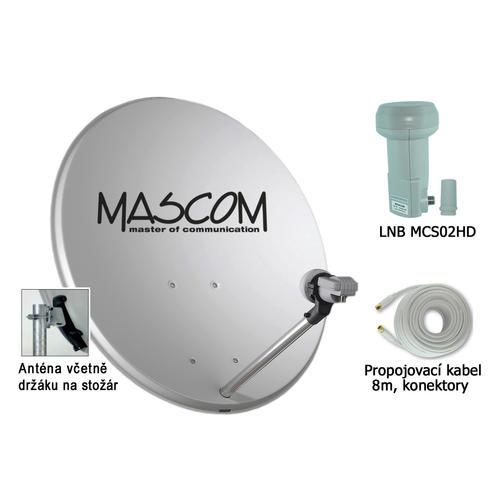Mascom OP60 parabola, MCS02HD, koax
