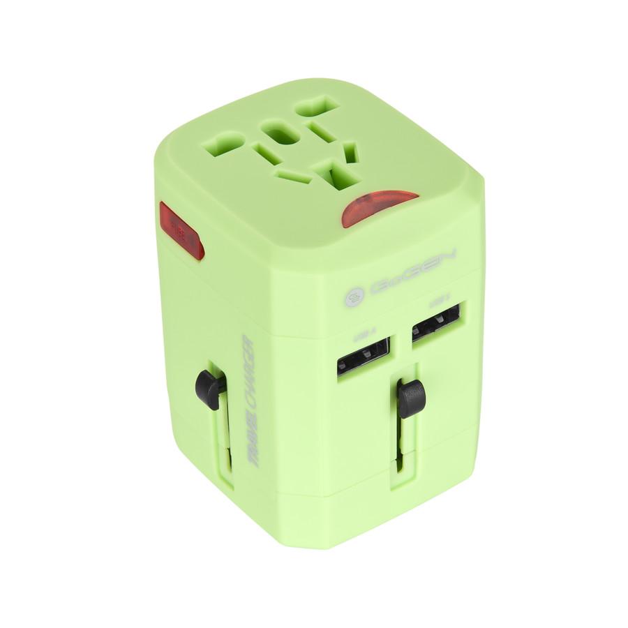 GoGEN pro 150 zemí, 2x USB, zelený