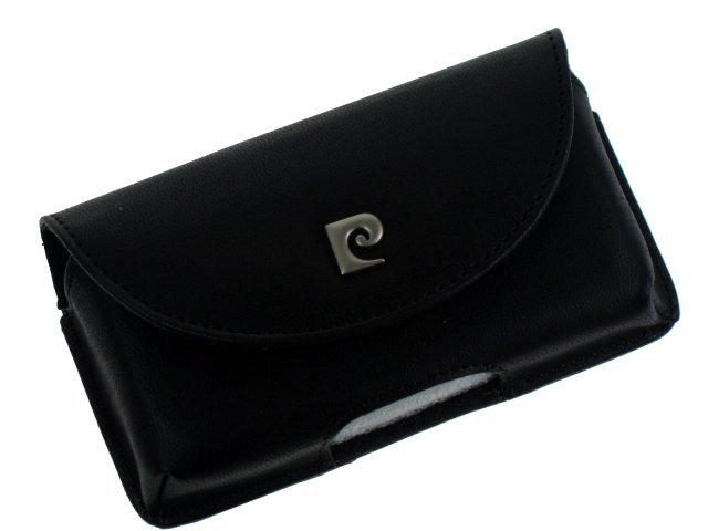 Pouzdro Pierre Cardin PU, horizontální - velikost Samsung S2 Black