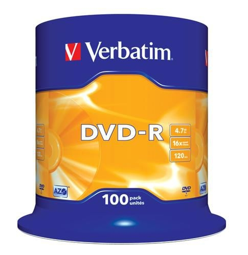 Verbatim DVD-R 4,7GB 100ks