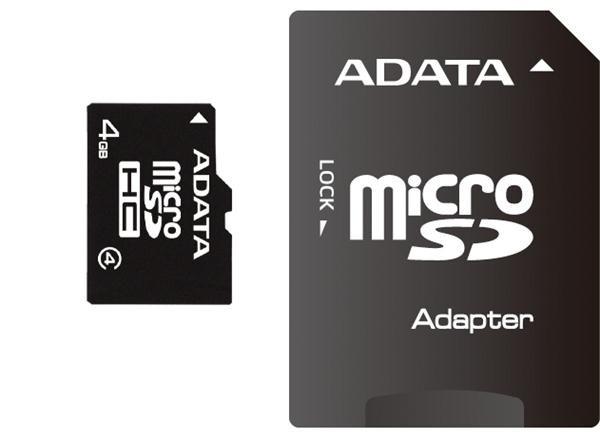 A-Data microSD 4GB + adaptér