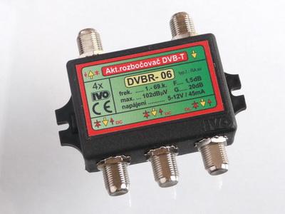"""Rozbočovač aktivní pro DVB-T 4X výstup """"F"""" 20dB"""